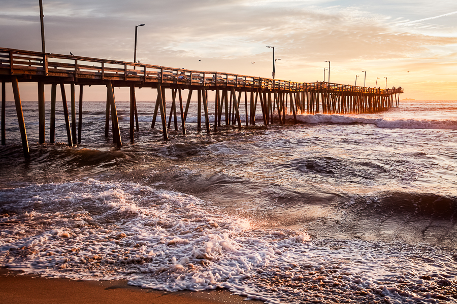 Sunrise at the Virginia Beach Fishing Pier