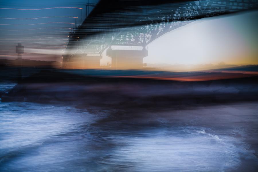 Abstract of the Coleman Bridge Yorktown, Virginia