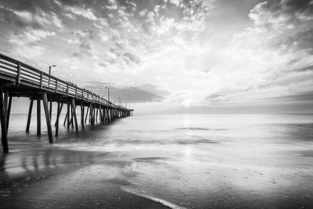 Sunrise at the Oceanfront. Virginia Beach, Virginia.