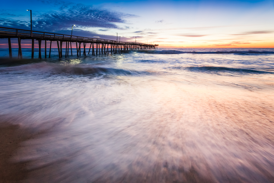 Virginia Beach Fishing Pier sunrise