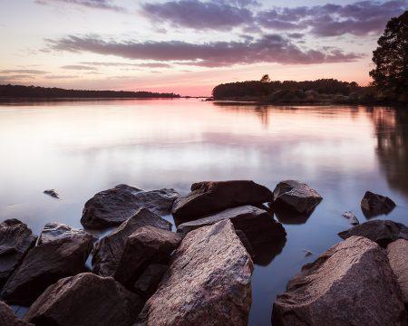 After sunset near Jamestown, Virginia.