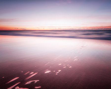 A tranquil sunrise in Virginia Beach, Virginia.