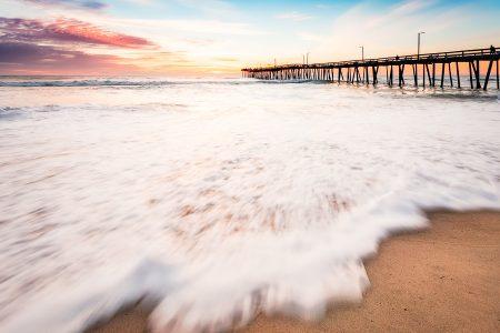 Virginia Beach Fishing Pier at sunrise