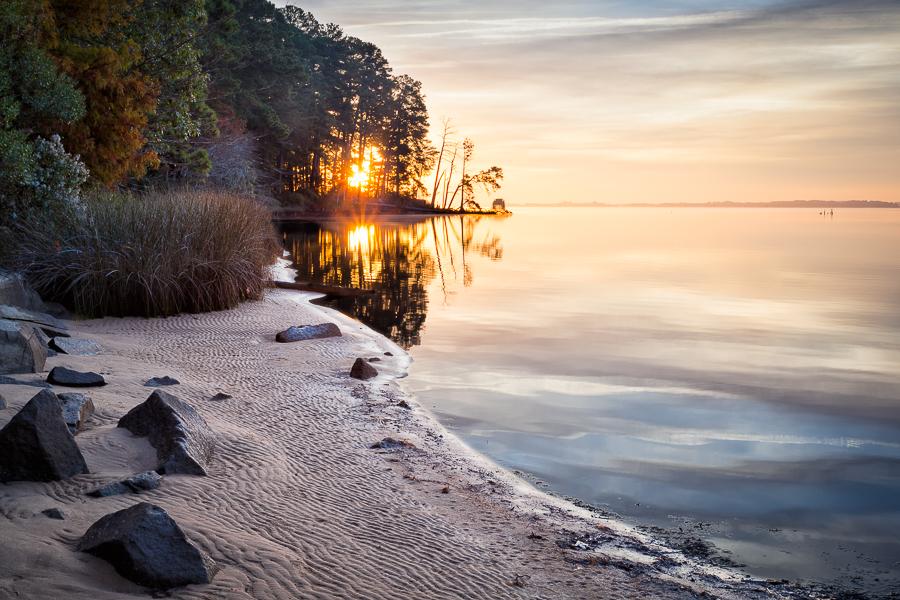 Sunrise near Jamestown, Virginia