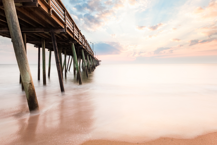 Sunrise at the Oceanfront, Virginia Beach Fishing Pier