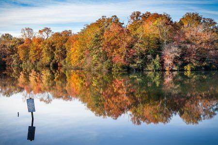 Autumn on Colonial Parkway, Williamsburg Virginia
