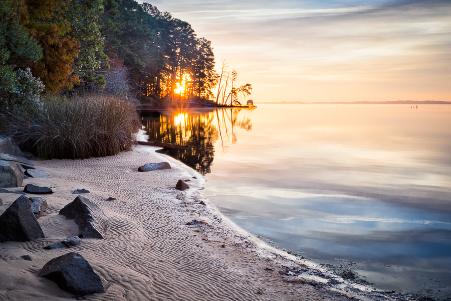 Sunrise near Jamestown, Virginia
